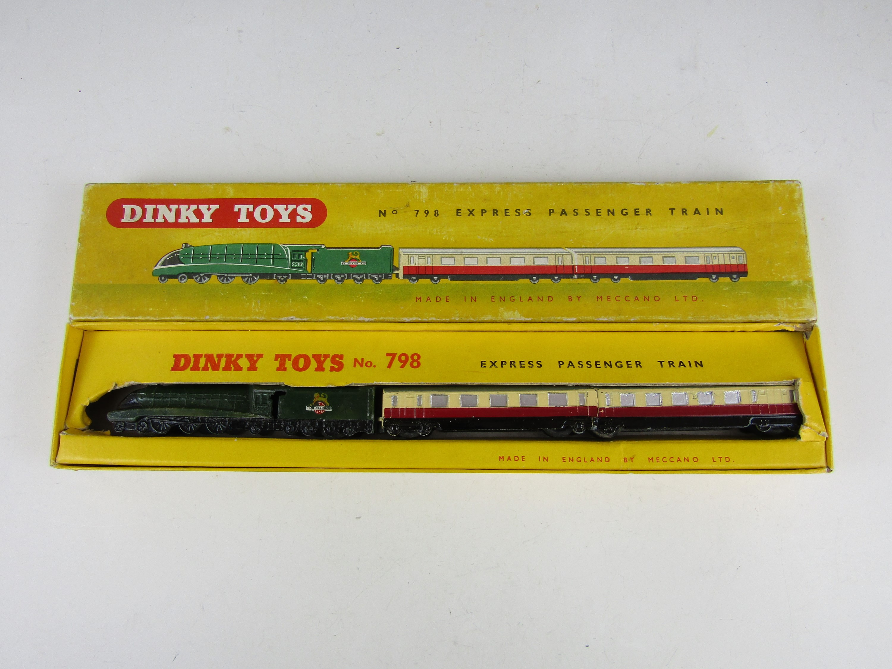 Lot 33 - A Dinky Toys No 798 Express Passenger Train, in original carton
