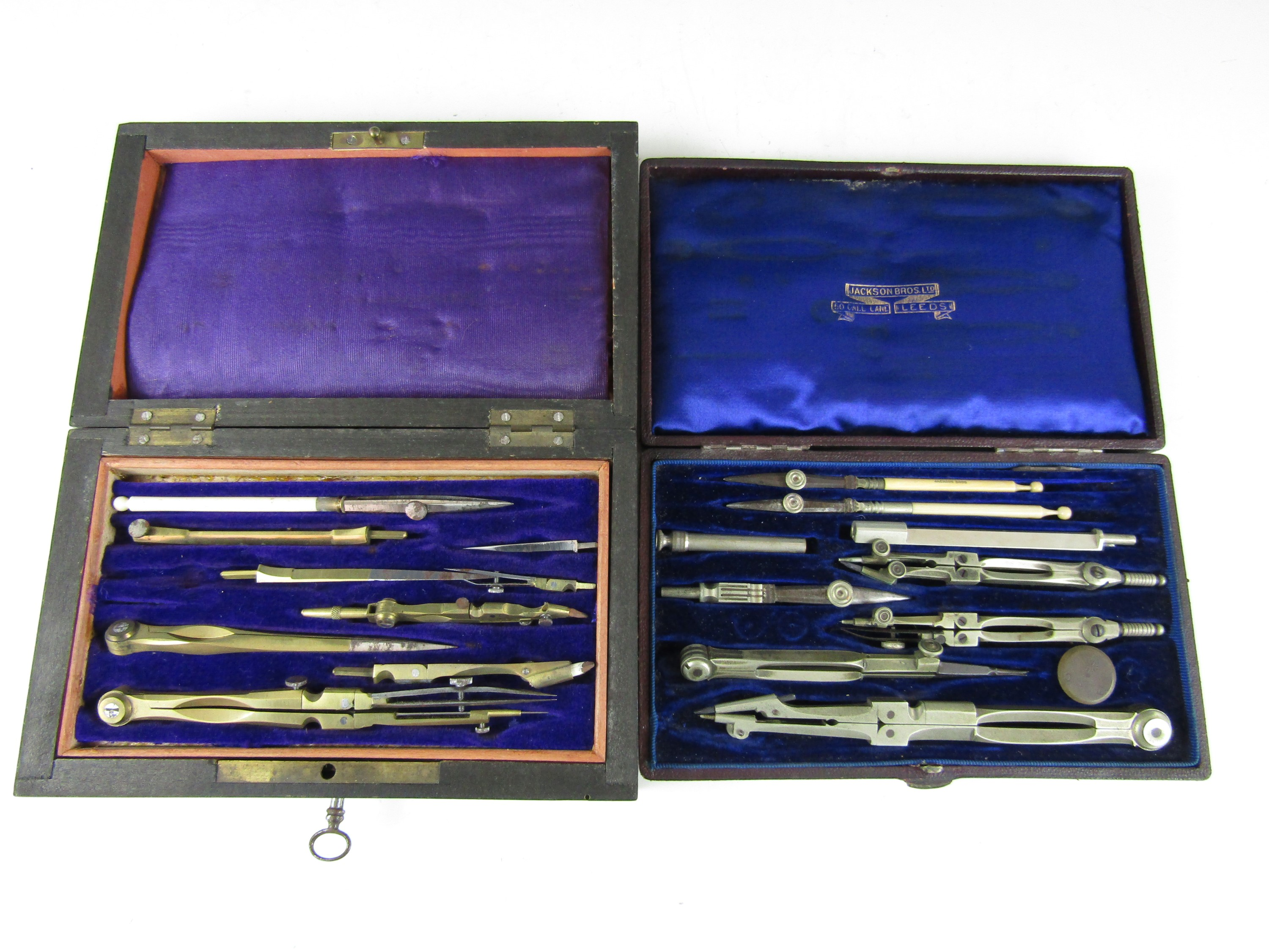 Lot 26 - A cased set of late Victorian German silver drawing instruments retailed by the Jackson Brothers