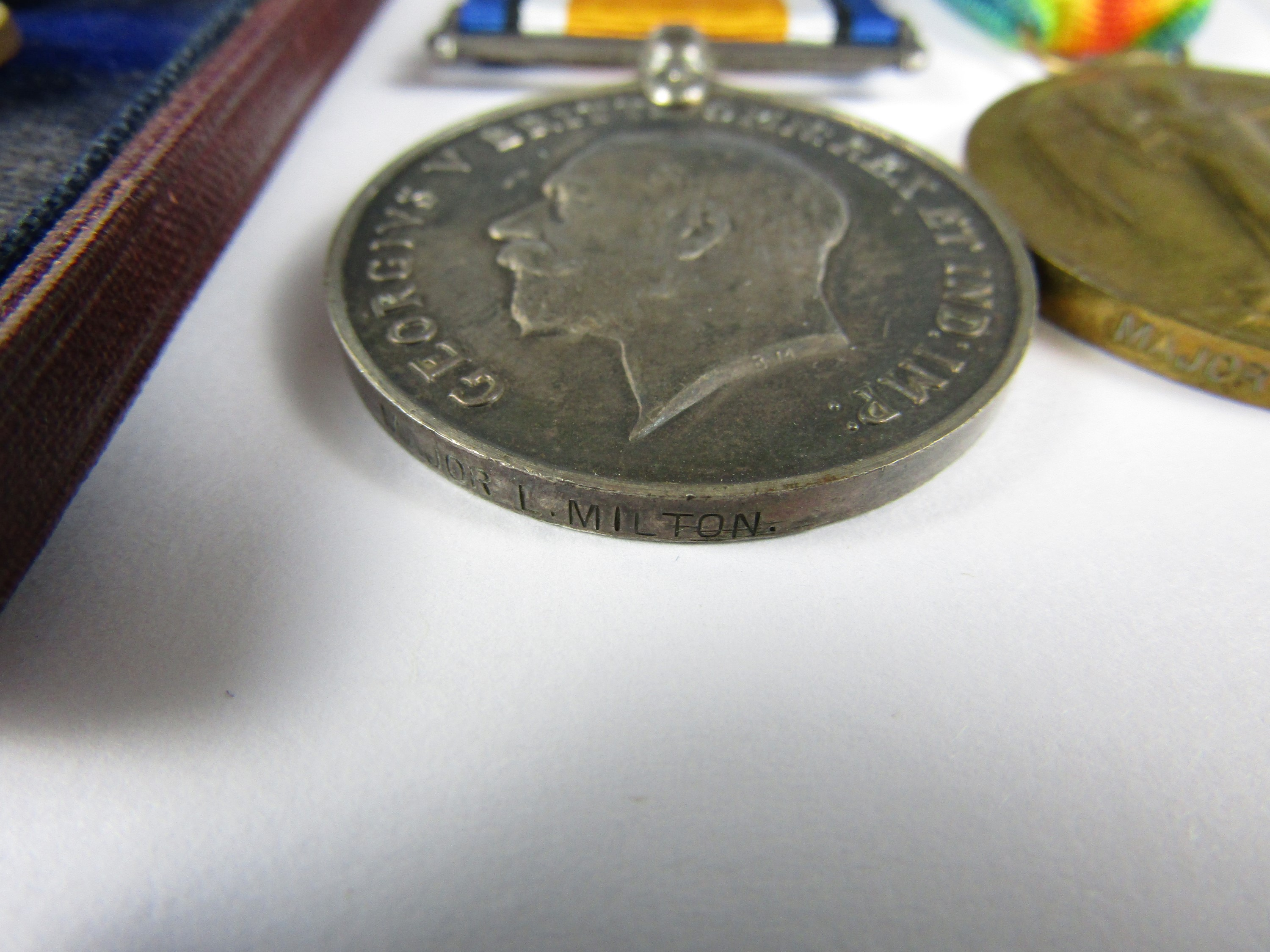 Lot 52 - A First World War gallantry medal group comprising Military Cross, British War and Victory medals,
