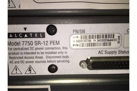 Make: Alcatel-Lucent Model: Alcatel 7750 SR-12 PEMAppraisal