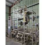 (4) spare frames, s/s, for bucket elevator conveyors [WH]