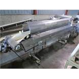 conveyor, s/s, 12 in. x 11 ft belt, 7.5 hp, on casters [WH]