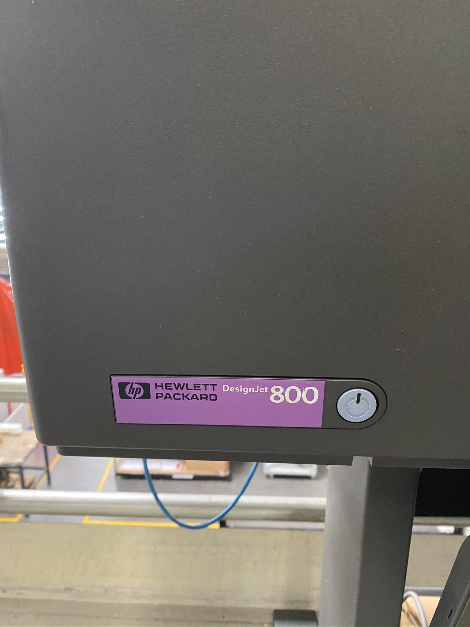 HP DESIGN JET 800 PLOTTER, MODEL C7780B, S/N SG0952201K - Image 3 of 4
