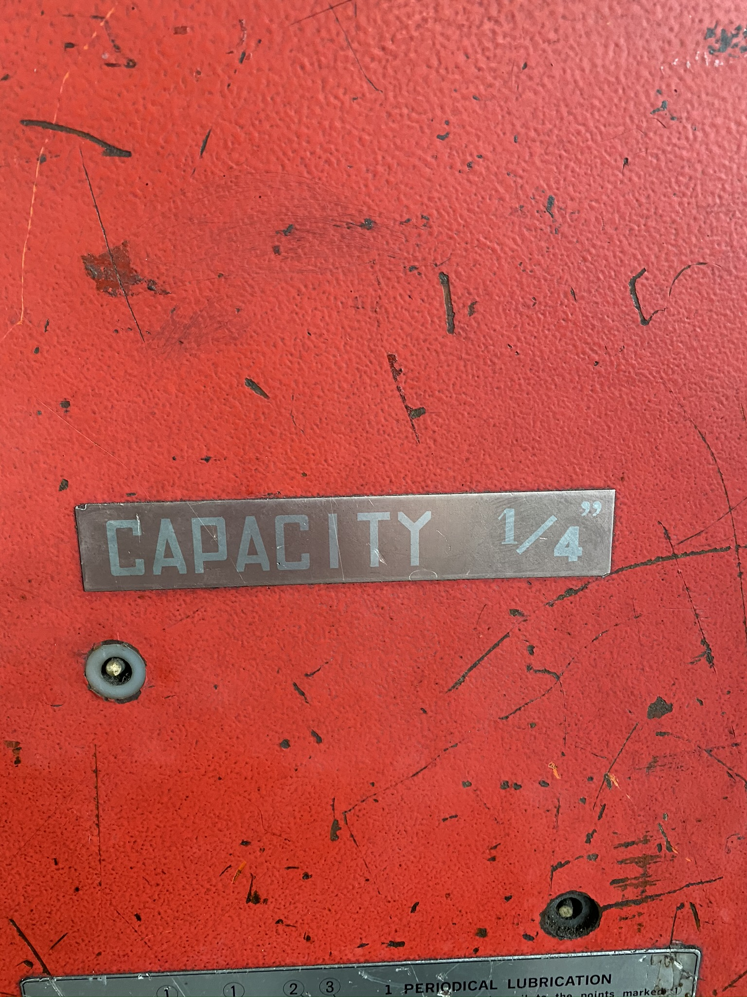 1990 AMADA M-2560 SHEAR, 2500 MM, LENGTH, 6 MM THICKNESS, MECHANICAL, SHEET SUPPORTS - Image 8 of 14