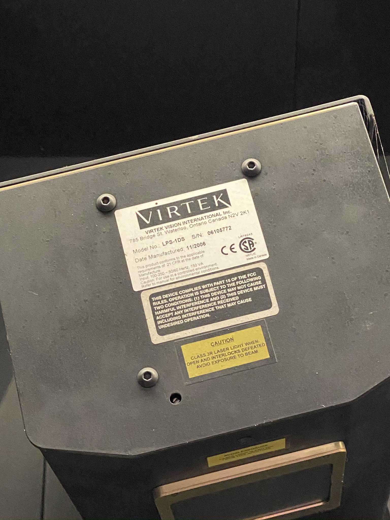 2006 VERTEK LPS-10S SCANNER, S/N 06105772 (NOTE: NEEDS NEW LASER HEAD, AS THE CURRENT ONE HAS LOST - Image 7 of 7
