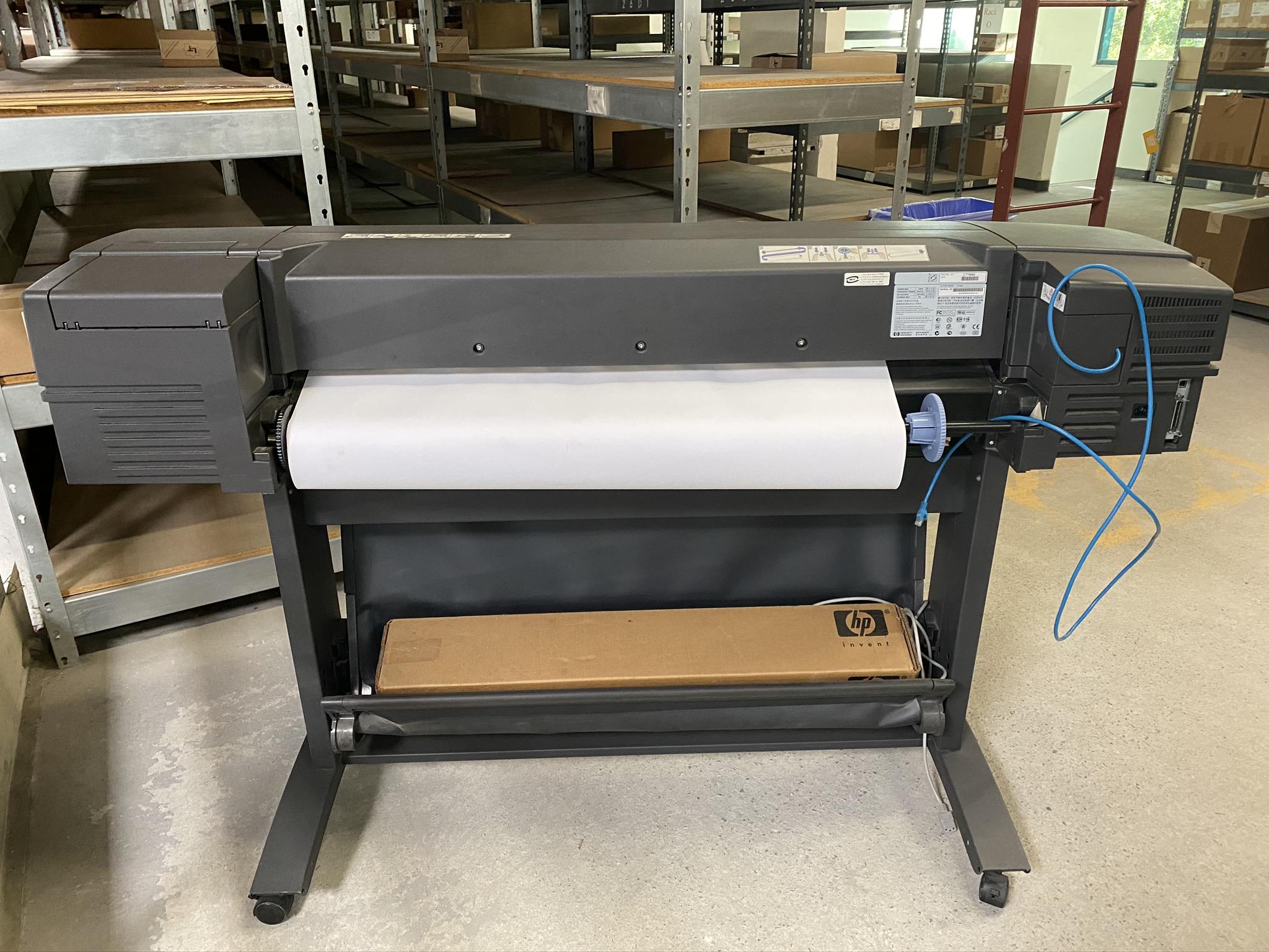HP DESIGN JET 800 PLOTTER, MODEL C7780B, S/N SG0952201K - Image 2 of 4