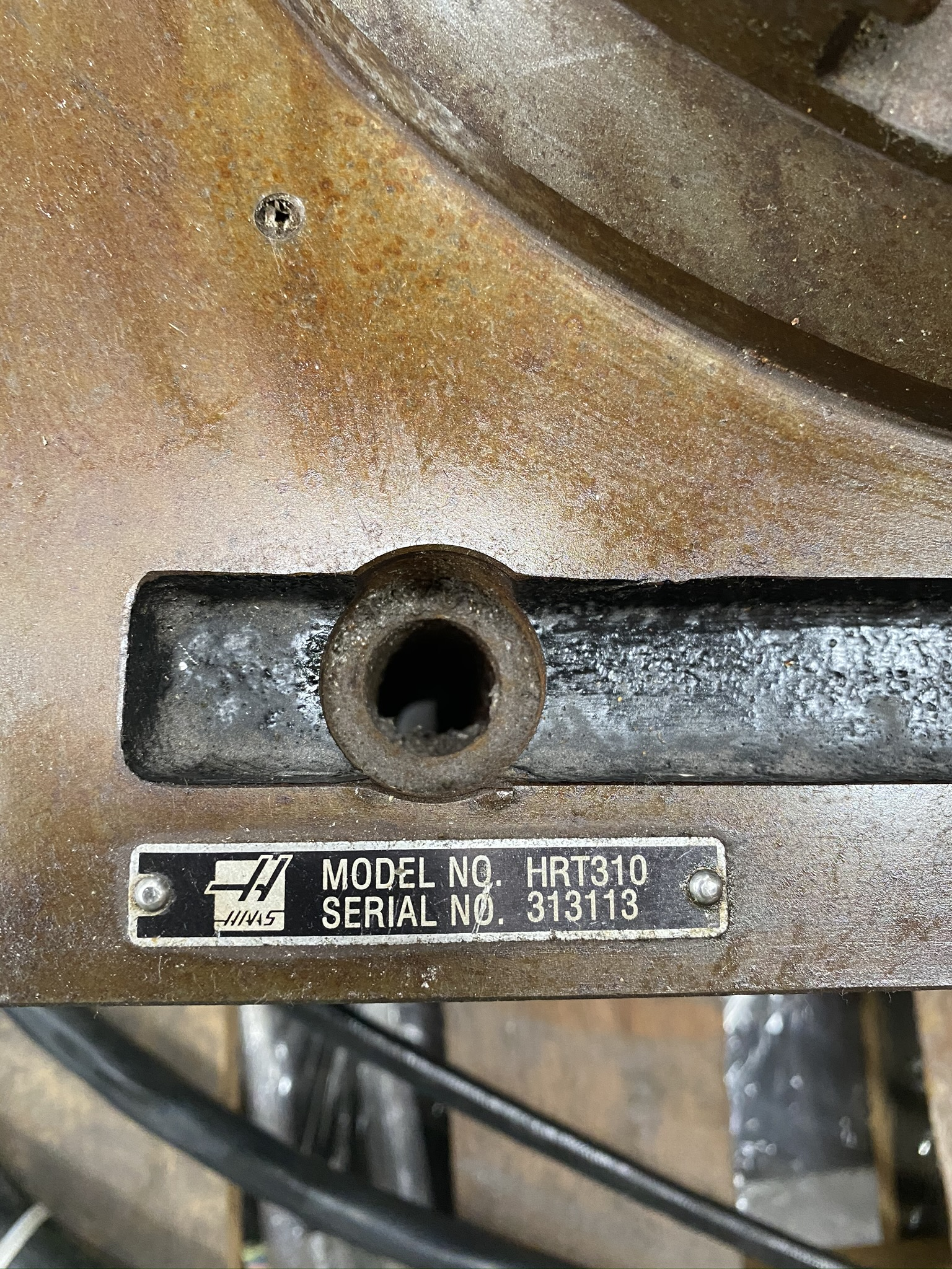 """HAAS HRT 310 ROTARY TABLE, 12"""" ROTARY TABLE, S/N 313113 - Image 4 of 9"""