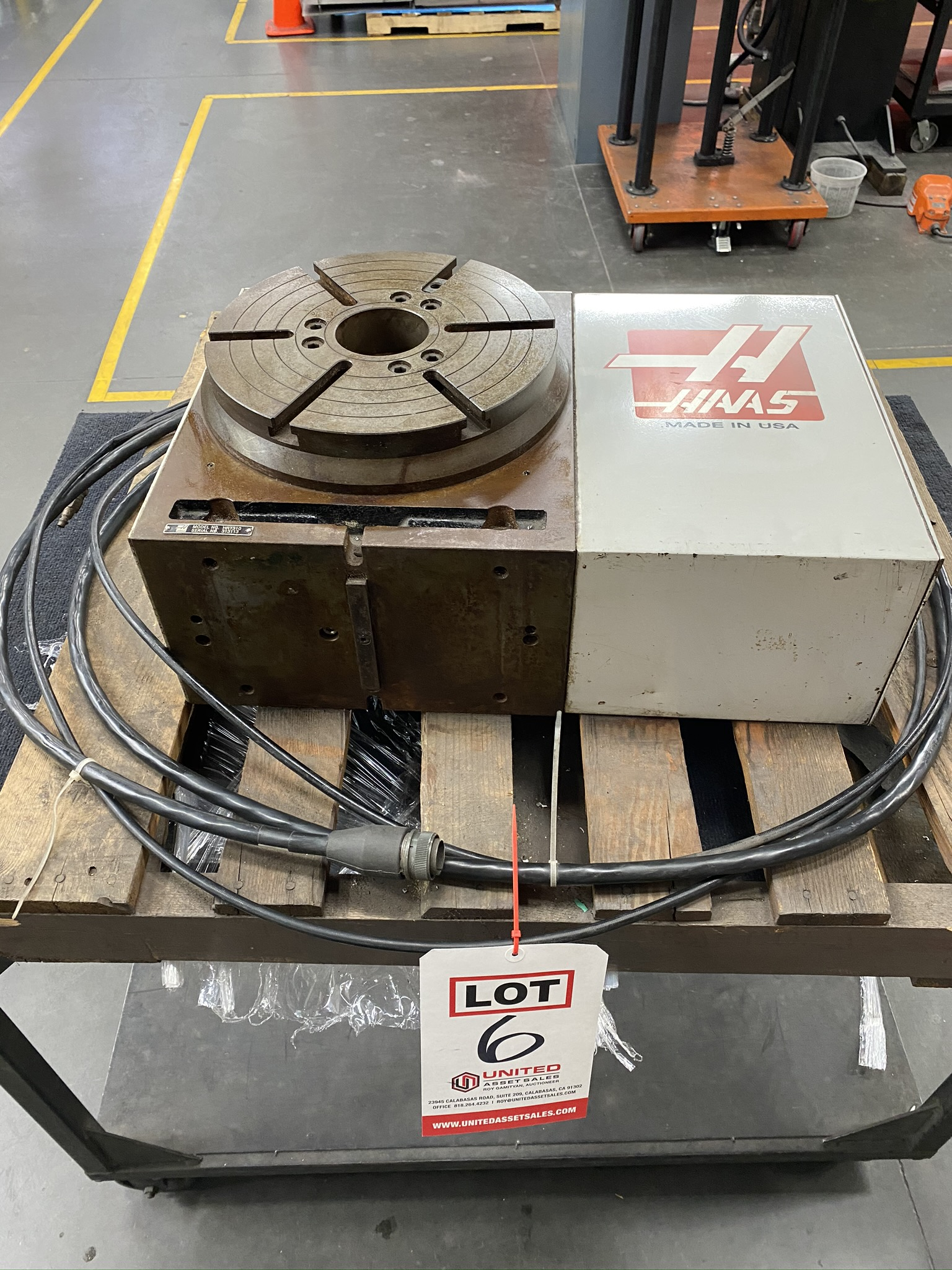 """HAAS HRT 310 ROTARY TABLE, 12"""" ROTARY TABLE, S/N 313113 - Image 8 of 9"""
