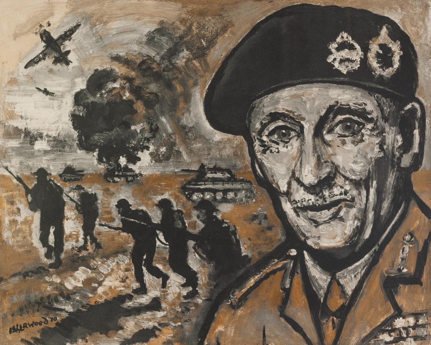 Lot 70 - LAWRENCE ISHERWOOD (1917 - 1988) ARTIST SIGNED LIMITED EDITION COLOUR PRINT ?The Spirit of Alamein?,