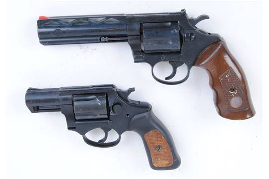 FN Browning BR-9, blank firing revolver, together with a 9mm