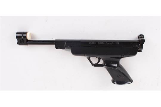 177 Manu Arms, break barrel target air pistol, together with