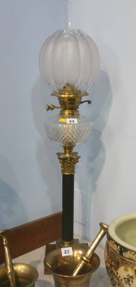 Lot 23 - Oil lamp