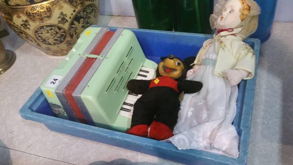 Lot 24 - Child's accordion etc.