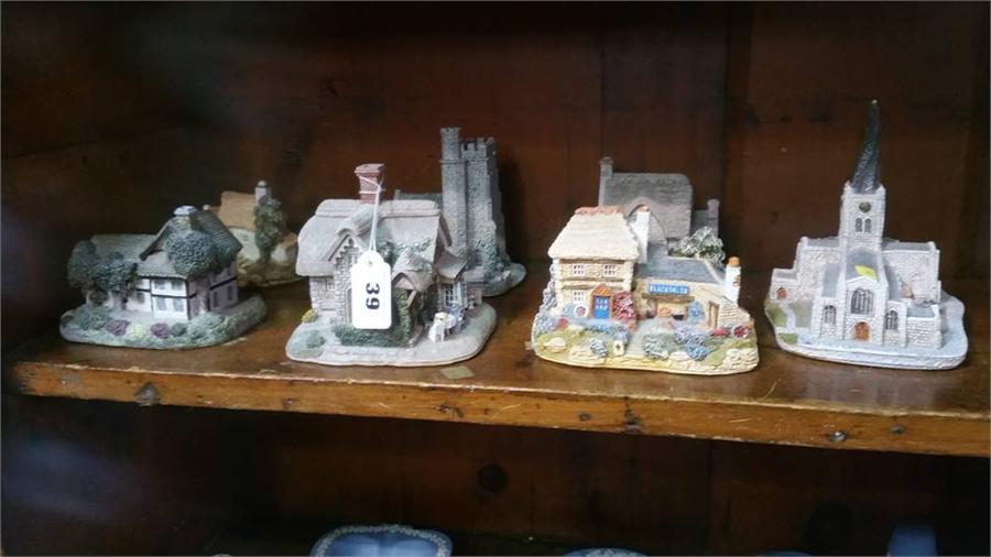Lot 39 - Seven Lilliput lane cottages and churches