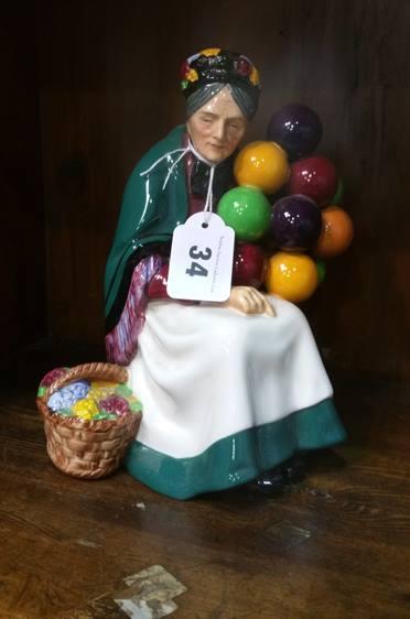 Lot 34 - Doulton figurine 'The balloon seller'