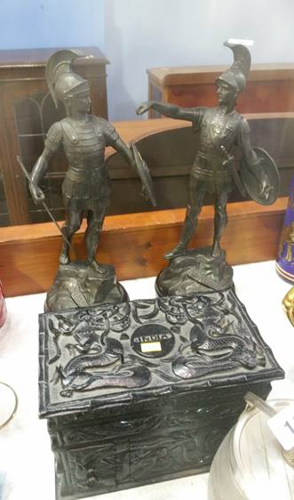 Lot 9 - Pair of spelter Military figures