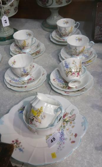 Lot 45 - Windsor tea set