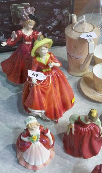 Lot 47 - Six Royal Doulton figures