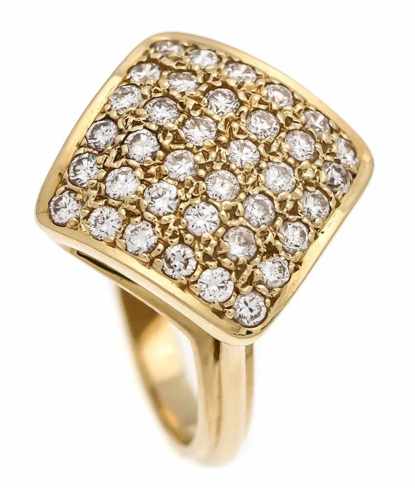 Brillant-Ring GG 585/000 mit Brillanten 1,06 ct W/VS-SI, RG 56, 7,6 gBrilliant ring GG 585/000