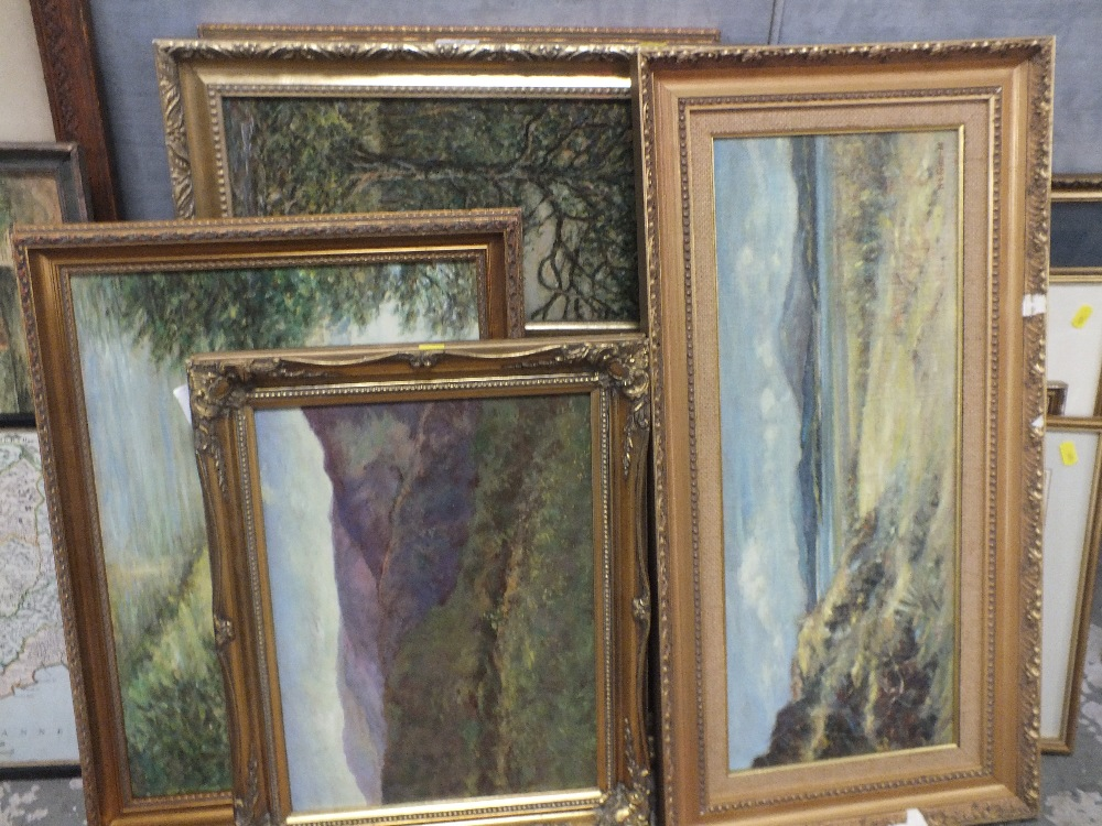 Lot 54 - A COLLECTION OF SEVEN HENRY E FOSTER OIL PAINTINGS DEPICTING LANDSCAPES ETC
