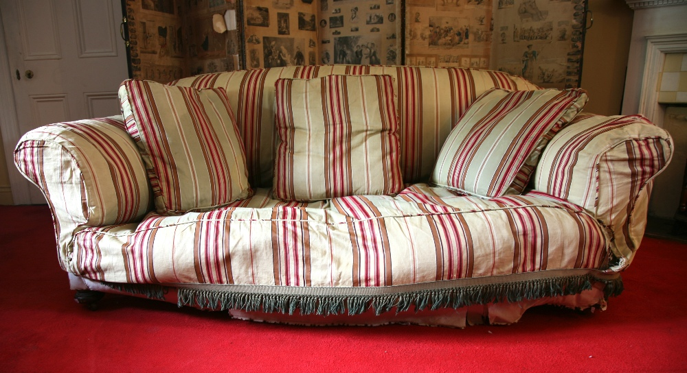 Lot 16 - An old Victorian three-seater Chesterfie