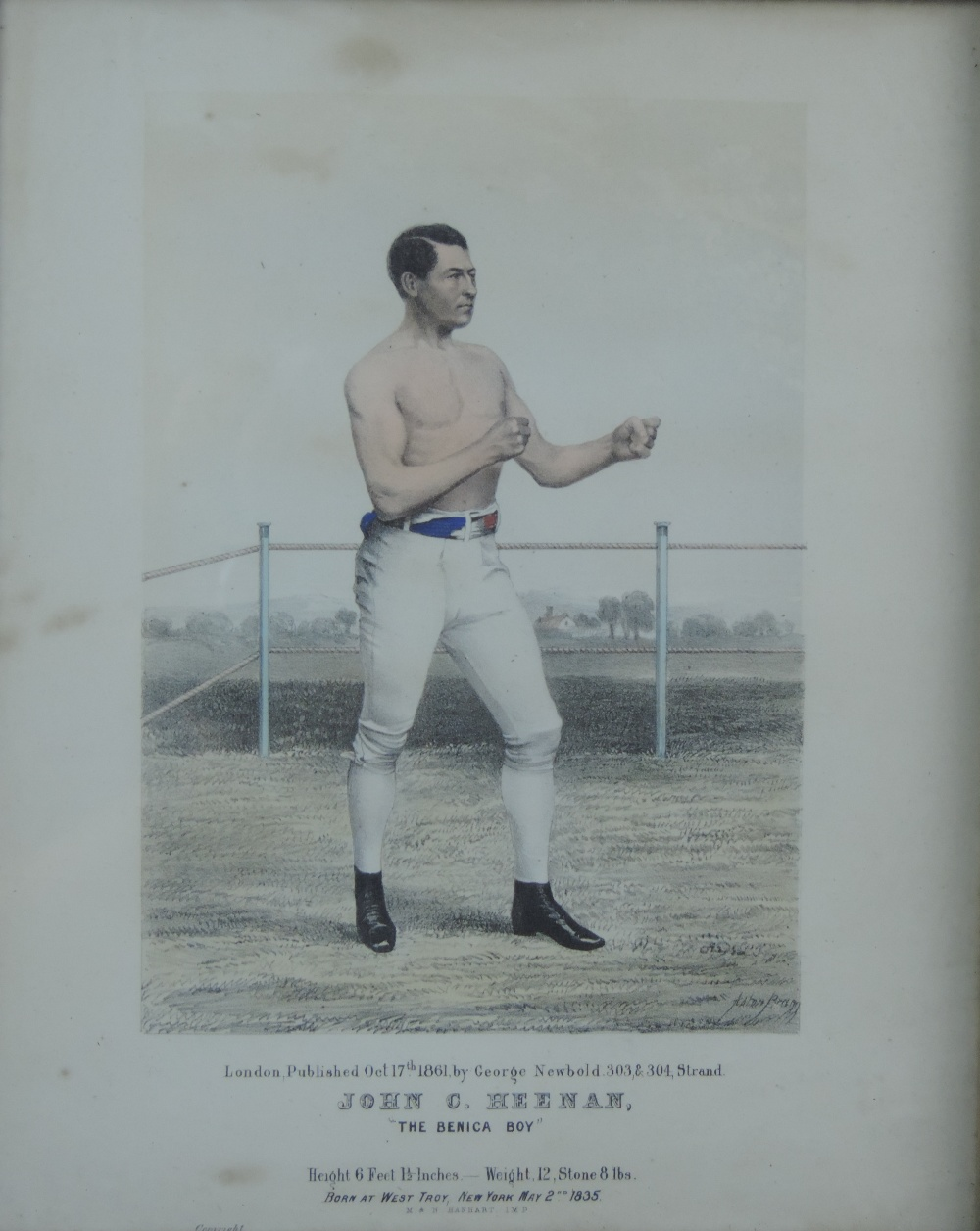 Lot 12 - Boxing: A pair of Victorian coloured Pri