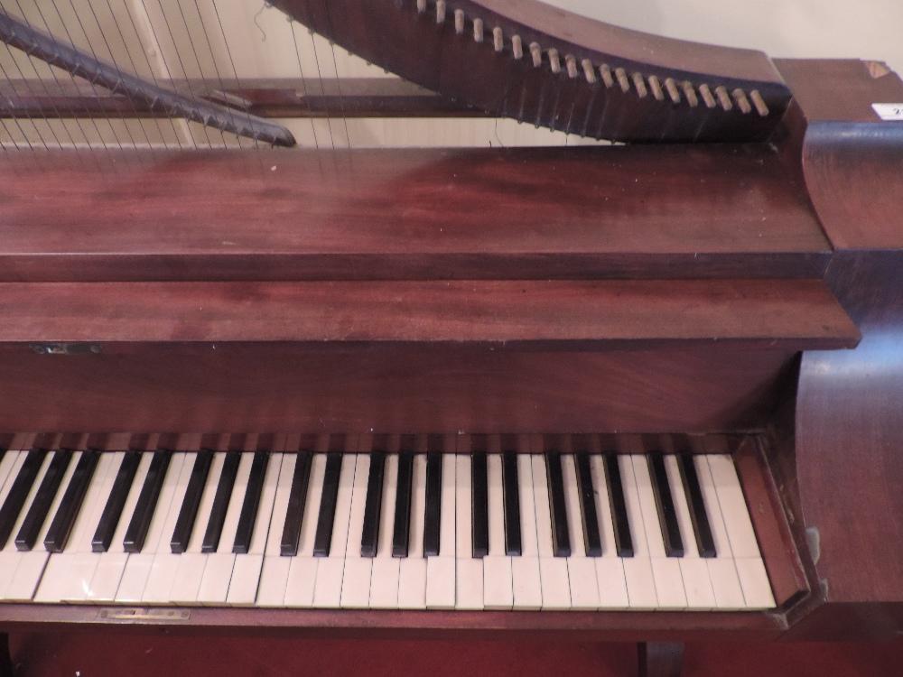 Lot 21 - A rare and unusual Regency mahogany French Harpsichord,