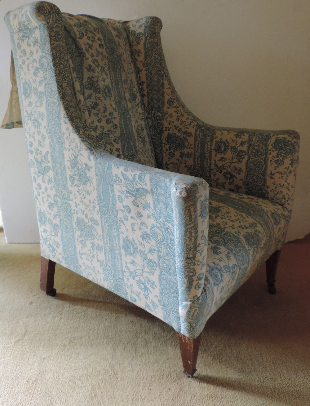 Lot 42 - A late 19th Century Armchair, covered in