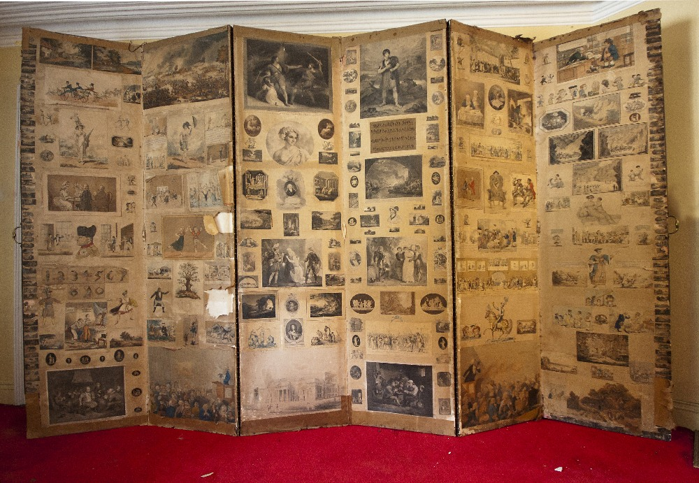 Lot 17 - A six fold Draught Screen, Regency perio