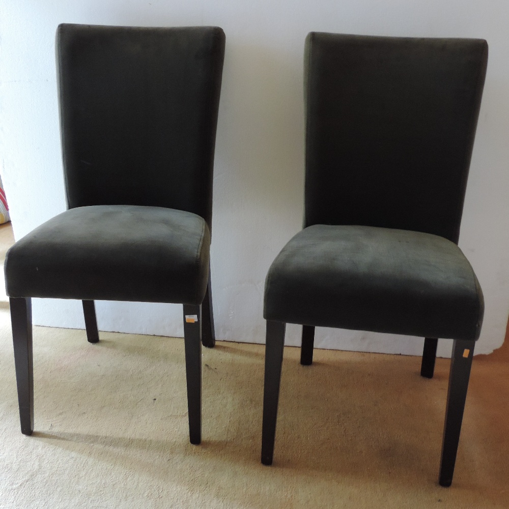Lot 43 - A set of 8 good quality modern Dining Chairs or Side Chairs,