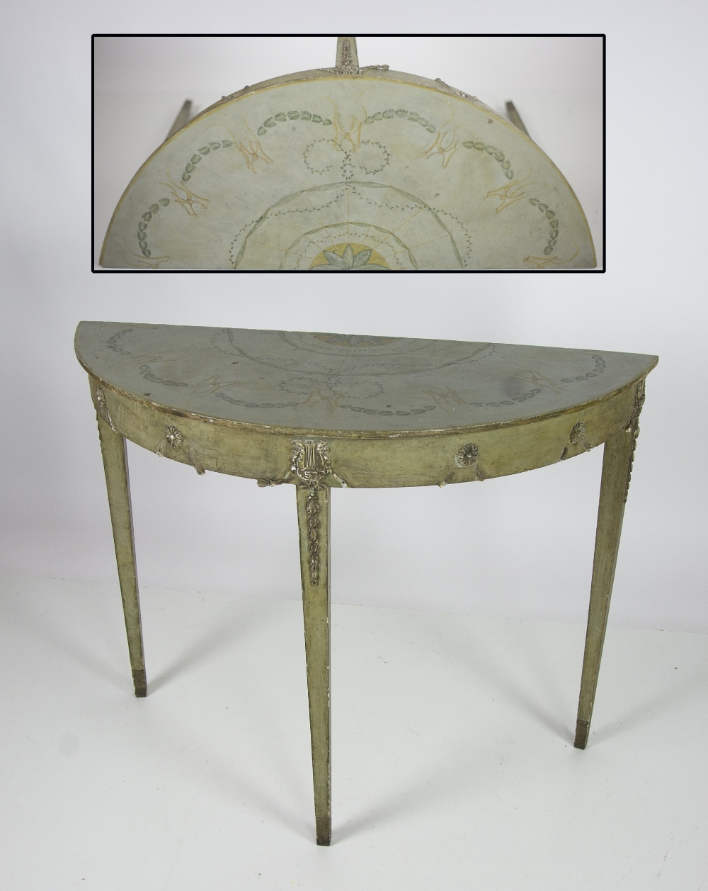 Lot 35 - A Neo-classical style painted and gesso