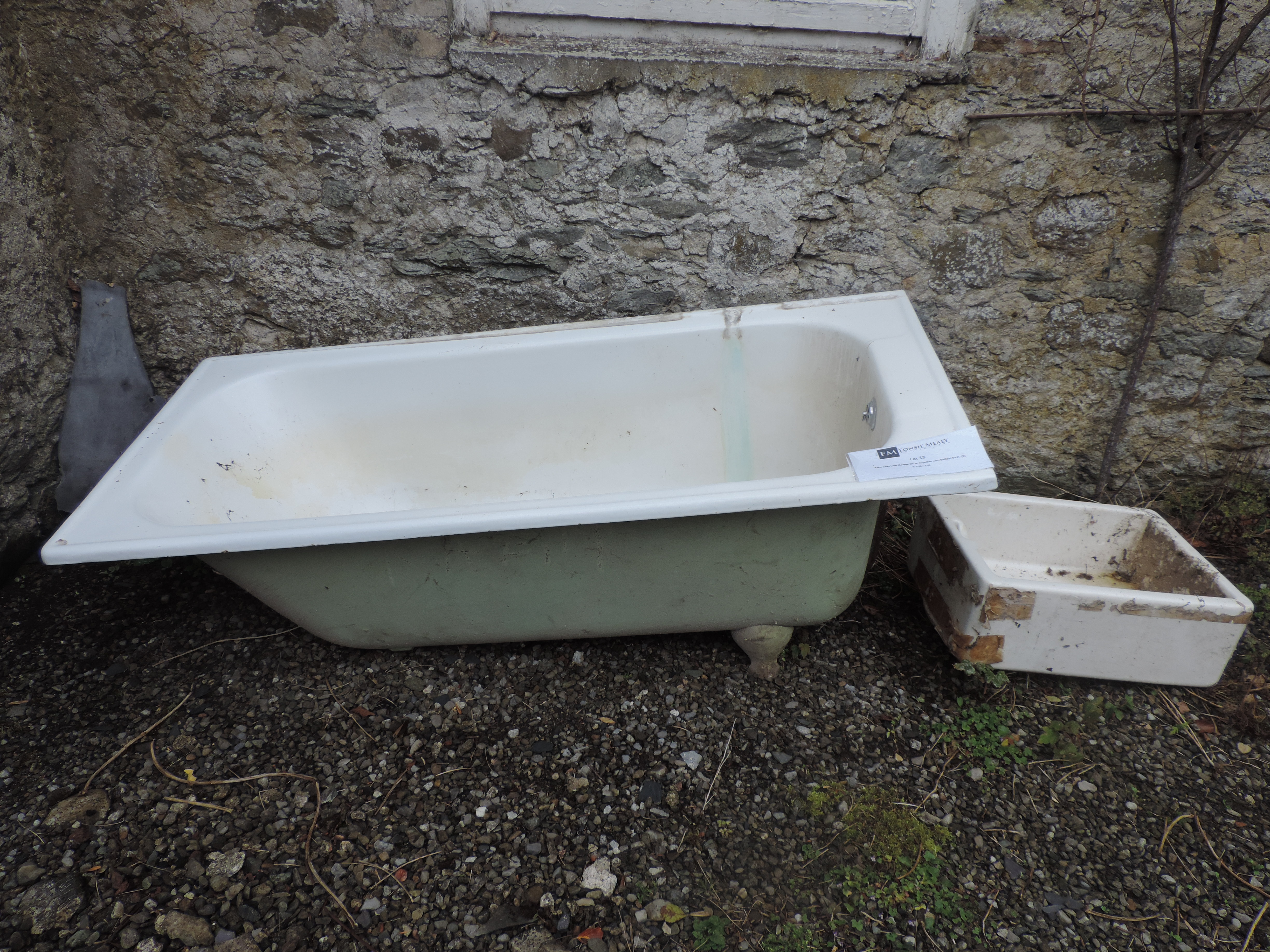 Lot 13 - Two cast iron Baths, as is, together wit