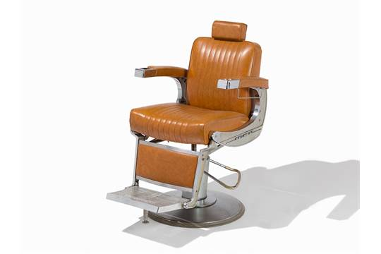 Previous - Vintage Takara-Belmont Barber's Chair, Leather & Chrome, C.1955