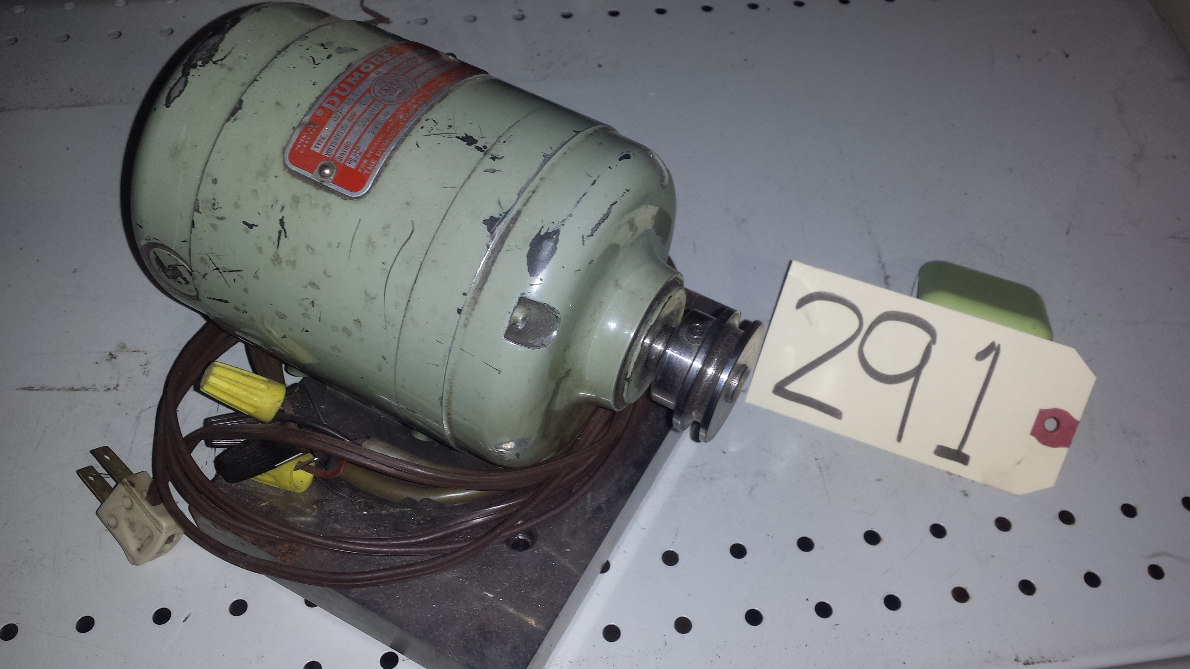 Dumore Electric Motor 110v 0 5hp 8000 Rpm