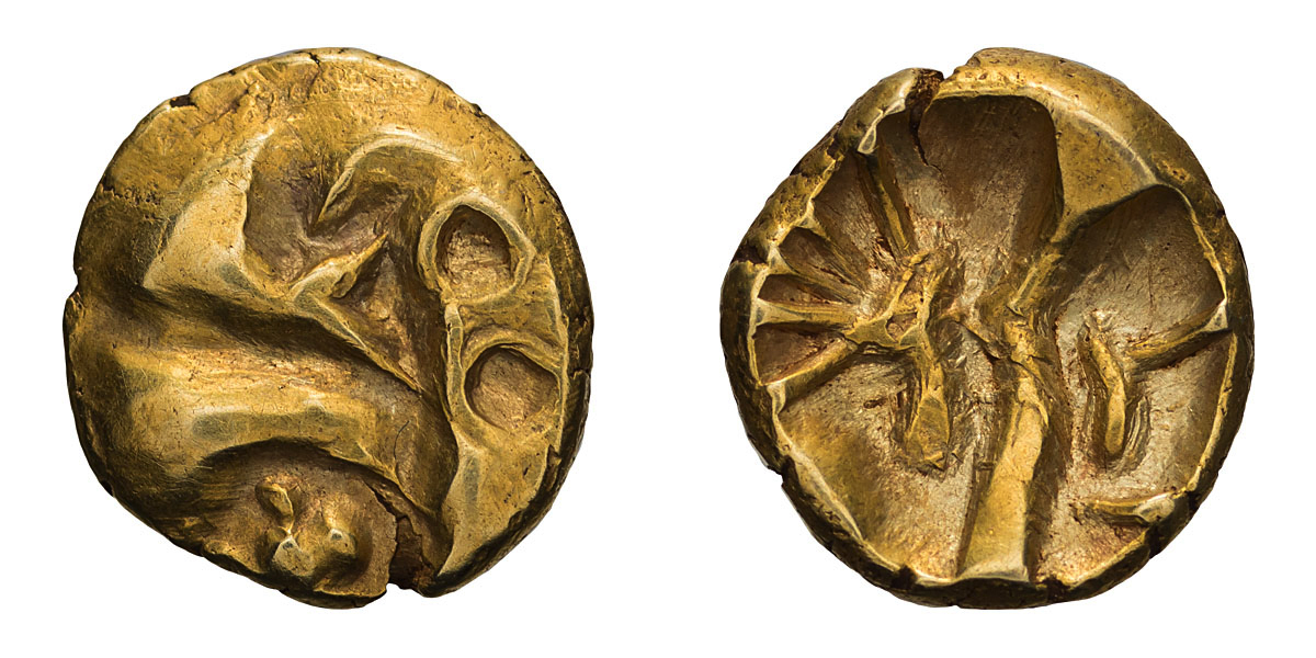 Lot 38 - Lot of three gold quarter staters, Celtic Britain. .