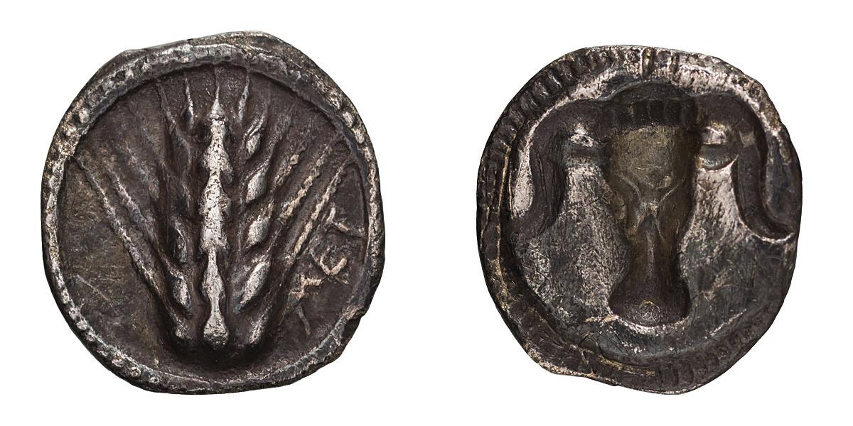 Lucania. Metapontum. Diobol.