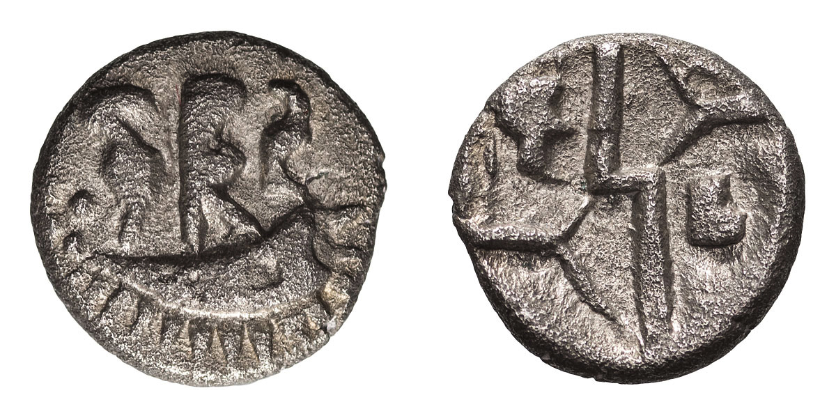 Lot 28 - Celtic Britain, Durotriges. Billon Quarter Stater.