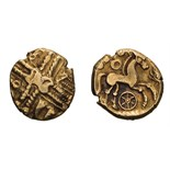 Celtic Britain, Trinovantes. Middle Whaddon Chase type, Gold Stater.