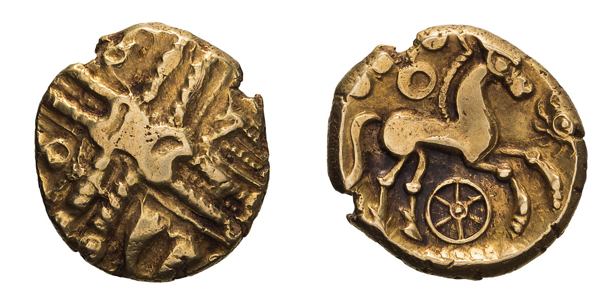Lot 29 - Celtic Britain, Trinovantes. Middle Whaddon Chase type, Gold Stater.