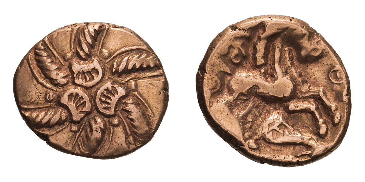 Lot 31 - Celtic Britain, Trinovantes. Addedomaros. Stater, pink gold.