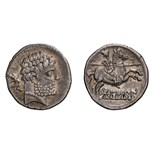 Spain, Osca. Denarius.