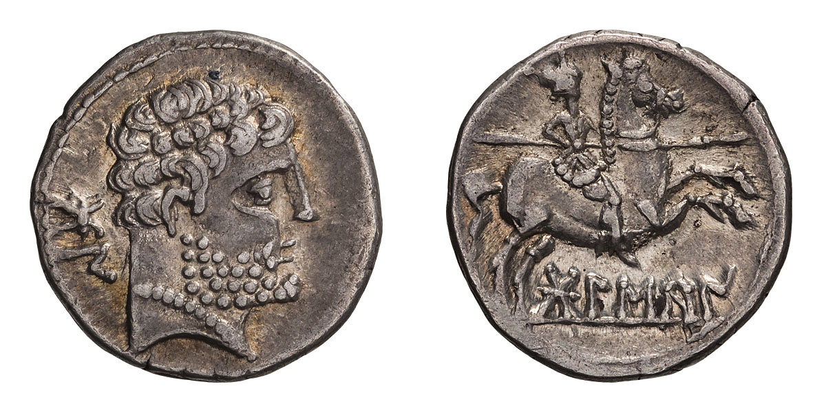 Lot 39 - Spain, Osca. Denarius.