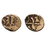 Celtic Britain, Kent. Kentish geometric type, Gold Quarter Stater.