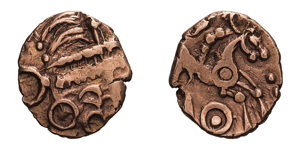 Lot of two gold quarter staters, Celtic Britain, Iceni. . - Image 2 of 2
