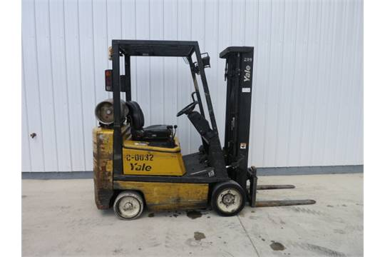 Yale LP Forklift, Model #E634020, Serial #5021352-05, Hours