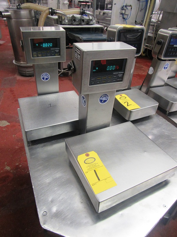"""Lot 1 - Weigh-Tronix Mdl. 3275 Stainless Steel Scales, 10 Lbs capacity, 12"""" W X 13 1/2"""" L"""