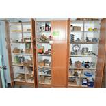 LOT/ CABINET WITH CONTENTS CONSISTING OF PARTS AND SUPPLIES [RIGGING FEES FOR LOT #56 - $225 USD