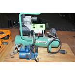 LOT/ BENCH TYPE AIR COMPRESSORS [RIGGING FEES FOR LOT #16 - $85 USD PLUS APPLICABLE TAXES]