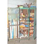LOT/ CABINET WITH WELDING ELECTRODES AND WIRE [RIGGING FEES FOR LOT #7 - $150 USD PLUS APPLICABLE