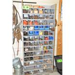 LOT/ PIGEONHOLE CABINET WITH CONTENTS CONSISTING OF PIPE FLANGES AND PARTS [RIGGING FEES FOR LOT #40